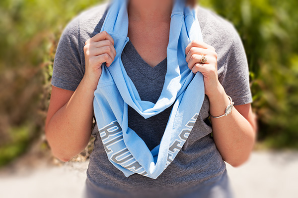 How to Craft a DIY T-Shirt Scarf