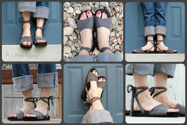 DIY Shoes (Flip Flop + T-Shirt)