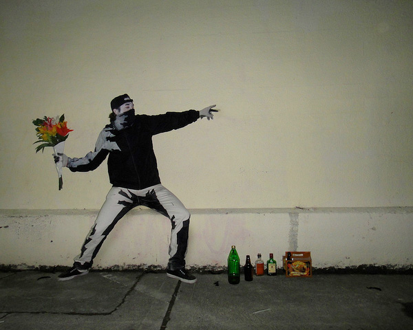 "Banksy's ""Flower Thrower"" Costume"