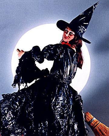 Trash Bag Witch