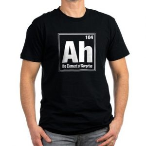 periodic table entry 109: Ah. The element of surprise.