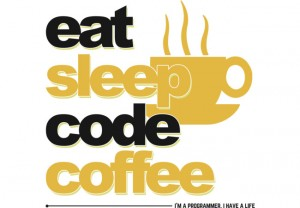 eat, sleep, code, coffe. i'm a programmer. i have a life
