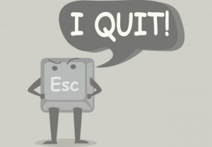 the escape computer key saying i quit