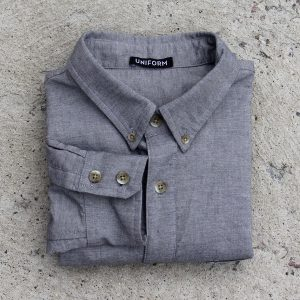 Grey oxford style dress shirt from Uniform