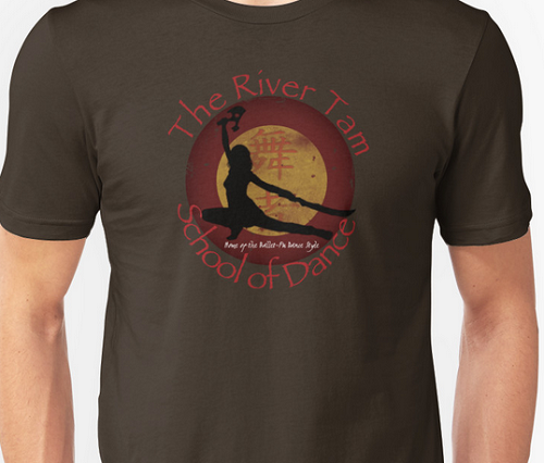 Dancing silhouette of River Tam from Firefly. Text: The River Tam School of Dance