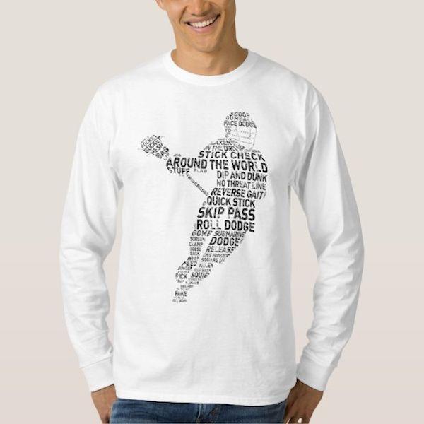 Typography: Typographic Lacrosse Player
