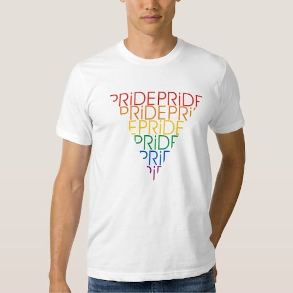 Typography: Rainbow Pride Typographic Triangle
