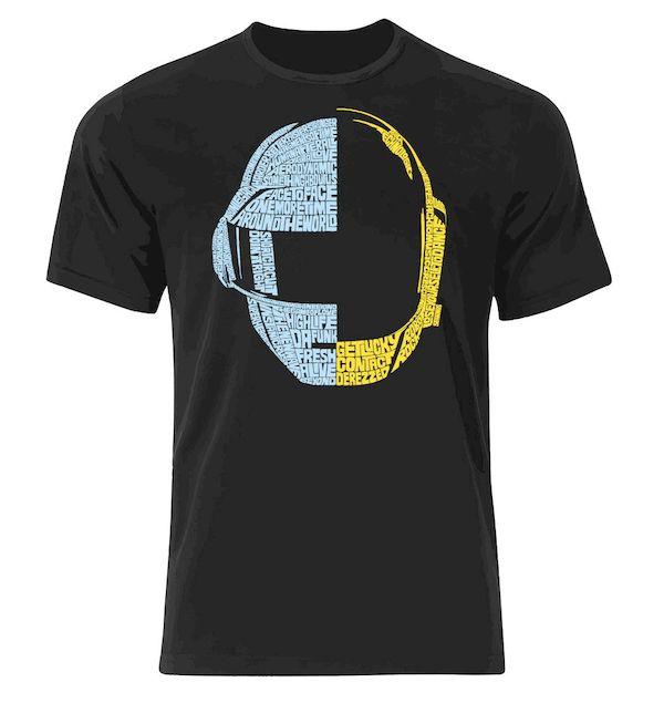 Typography: Typographic Daft Punk Helmet