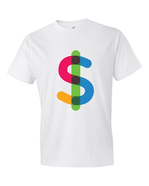 Typography: Colorful Dollar Sign