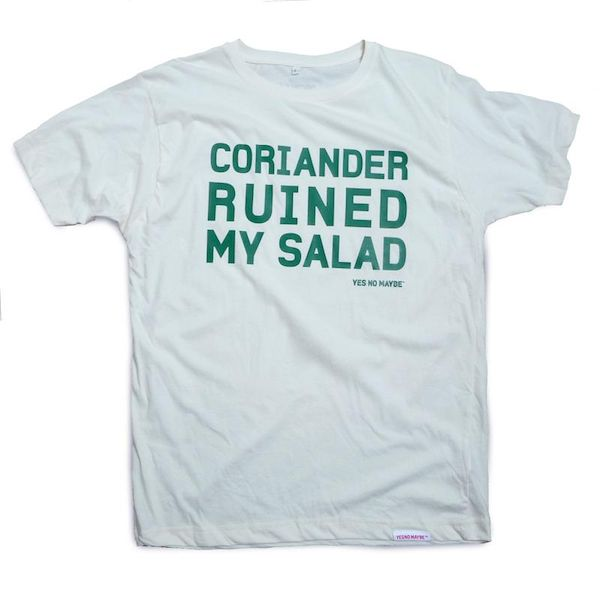 Typography: Coriander Ruined My Salad
