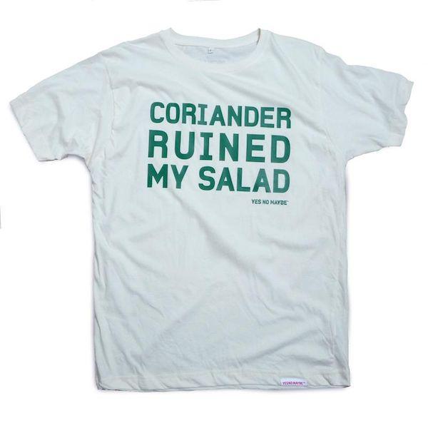 Typography: Coriander Ruined My Salad