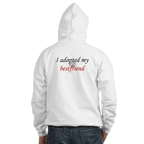 "sweater says ""I adopted my bestfriend"""