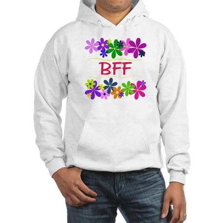 BFF, surrounded with flowers