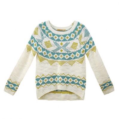 matching knit sweater