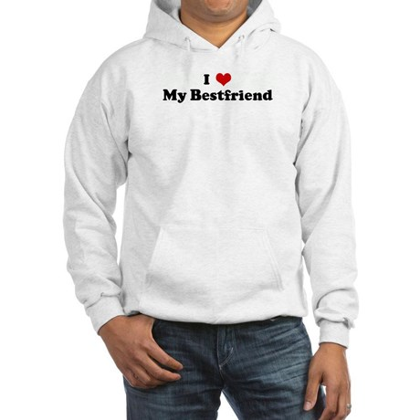 "sweater says ""I heart my bestfriend"""