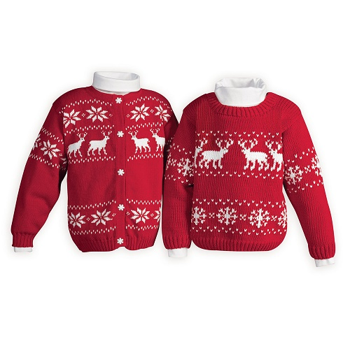 Matching Knitted Christmas Sweaters