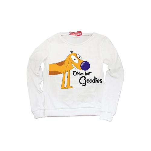 "matching sweater: ""Dog"" from Nickelodeon show ""CatDog"""