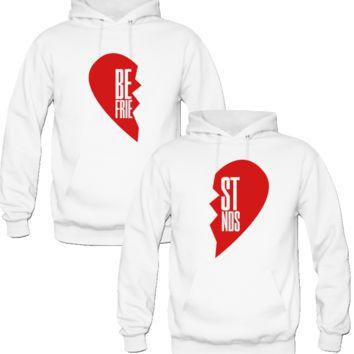 Best Friend Half Heart Sweaters